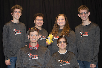 A group photo of Academic Bowl team